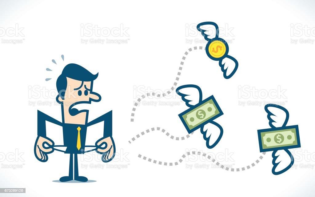 No money vector art illustration