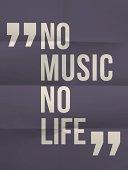 No music no life - phrase