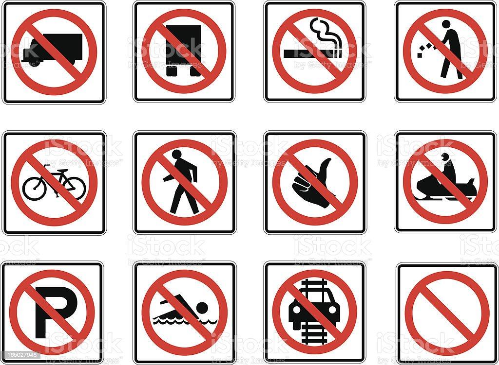No! No! No! vector art illustration