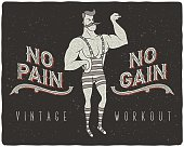 No pain - no gain concept illustration