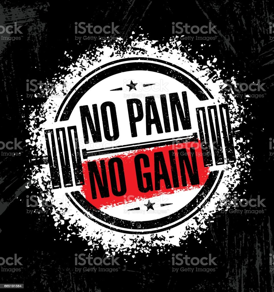 No Pain No Gain Inspiring Workout And Fitness Gym Motivation Quote