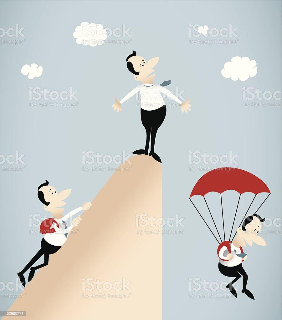 No parachute royalty-free stock vector art