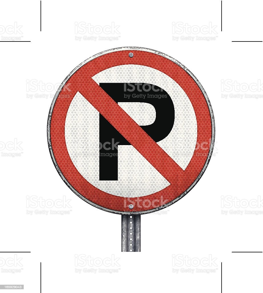 no parking road sign royalty-free stock vector art