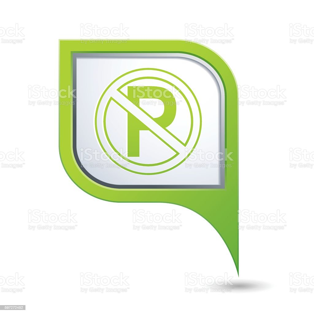 No parking sign on map pointer royalty-free no parking sign on map pointer stock vector art & more images of car