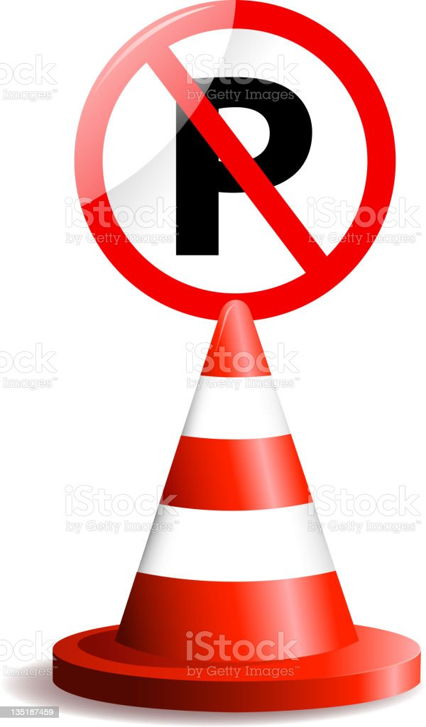 no parking sign royalty-free stock vector art