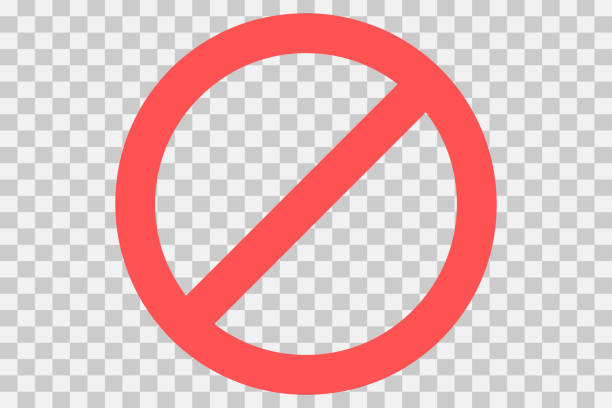 No parking sign.Do not enter sign.Restriction icon. No sign. Censor, Red prohibition vector badge. Round No symbol No parking sign.Do not enter sign.Restriction icon. No sign. Censor, Red prohibition vector badge. Round No symbol exclusion stock illustrations