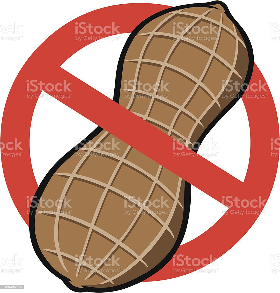 No Peanuts vector art illustration