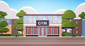 istock no people sport gym exterior fitness training healthy lifestyle concept sport studio building facade 1279959064