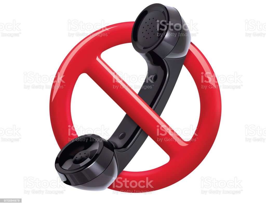 no phone sign red sign on white background forbidden call vector icon telephone