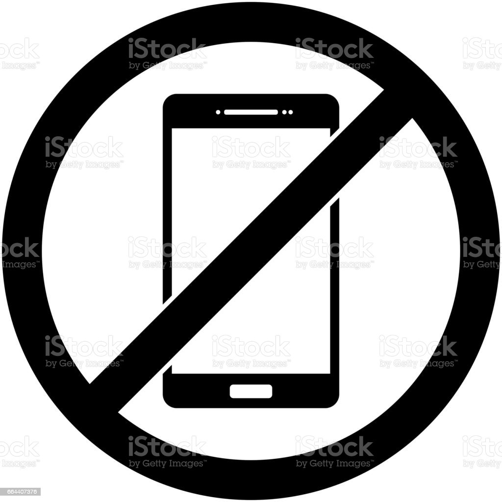 No phone, telephone prohibited symbol. Vector. vector art illustration