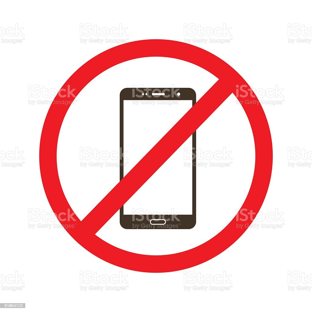 No Phone Use Icon Vector Sign Stock Vector Art More Images Of