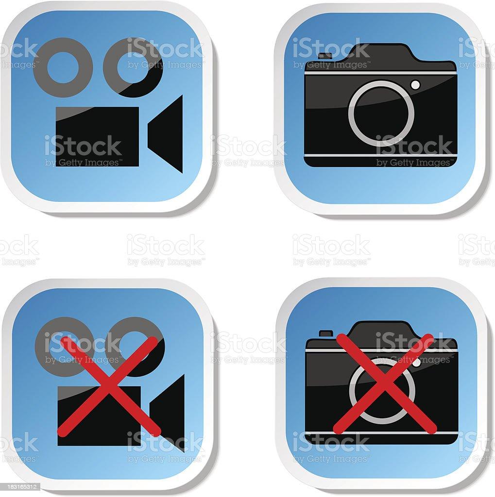 No photo camera sticker sign royalty-free no photo camera sticker sign stock vector art & more images of authority