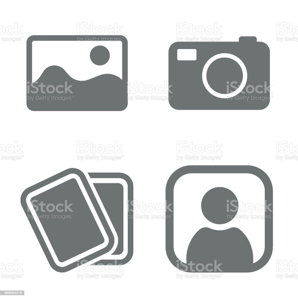 No photo set vector art illustration