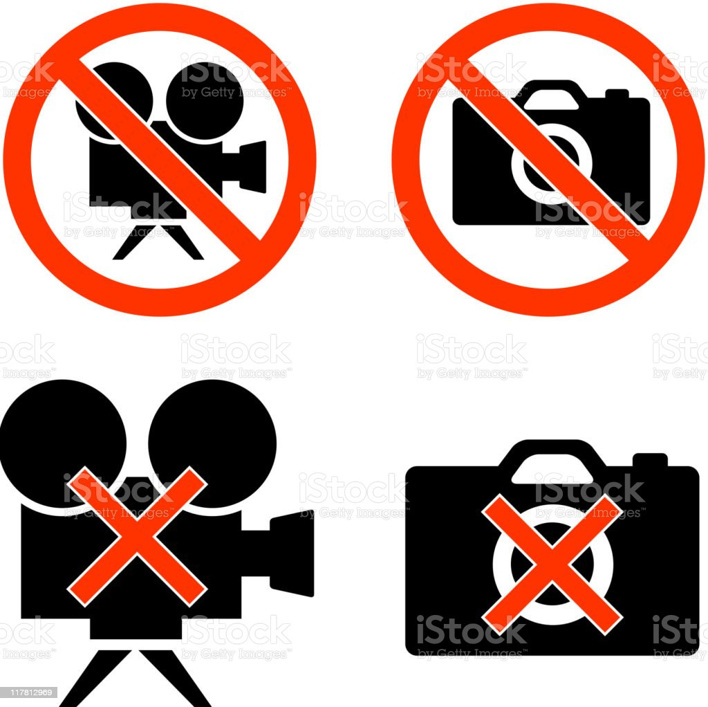 no photo video black and white royalty-free vector icon set royalty-free stock vector art