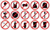 stop using disposable plastic pack, bag, box, bottle, straw sins, say no to plastic in everyday life and zero waste concept, stock vector illustration clip art