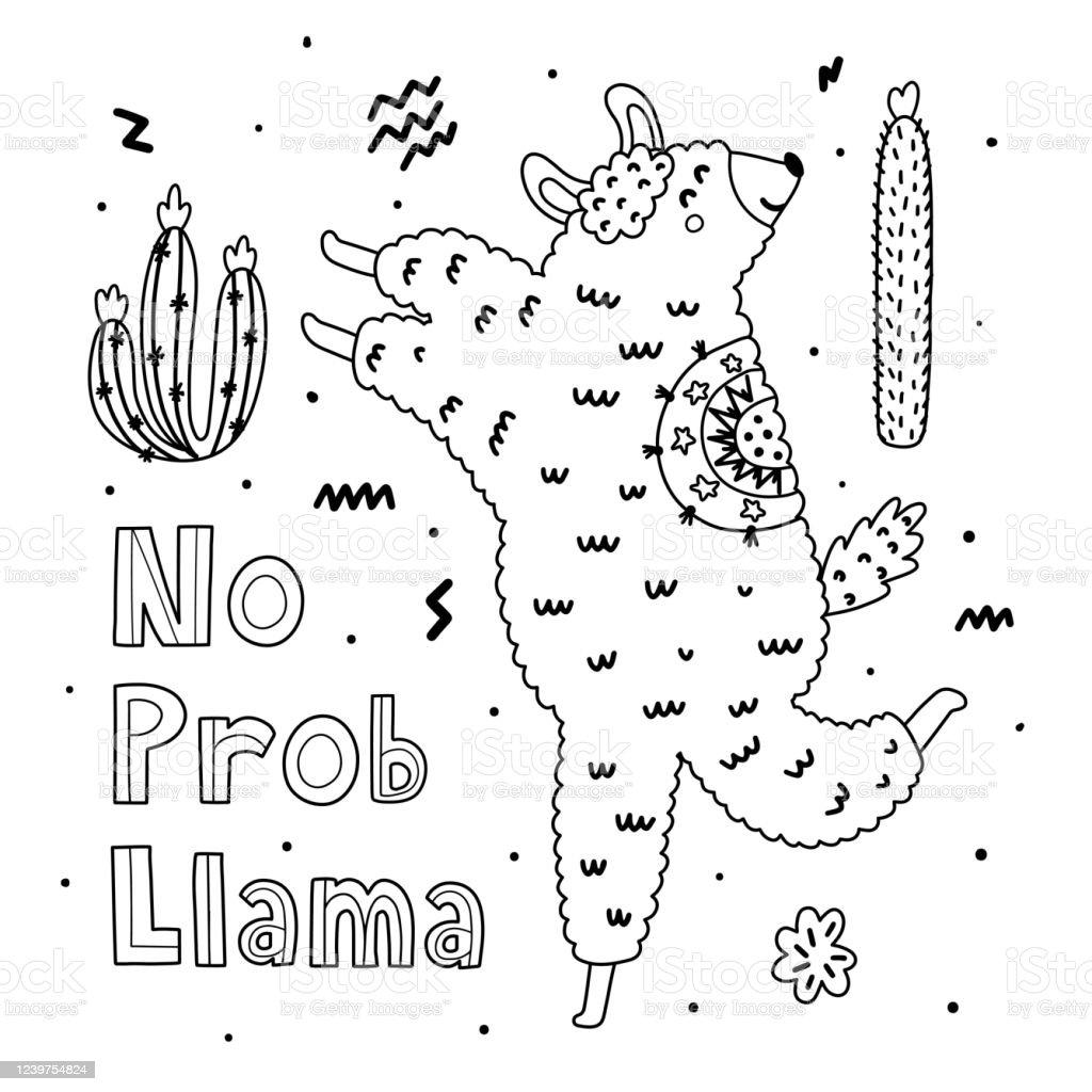 27+ Alpaca Coloring Page