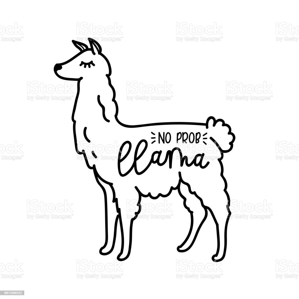 Charming Cute Llama Coloring Pages Contemporary Resume