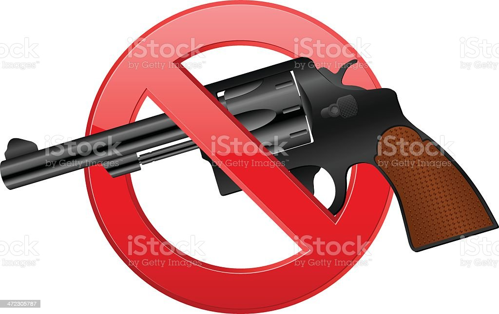 no revolver royalty-free no revolver stock vector art & more images of black color