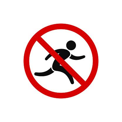 Ilustración de No Correr Signo De Prohibición ...