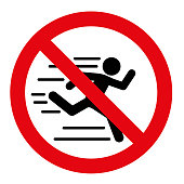 No running vector sign