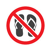 No sandals sign vector isolated