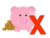 no savings concept illustration design over a white background