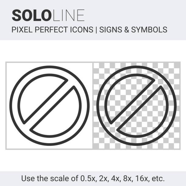 Kein Zeichen Symbol auf weißen und transparenten Hintergrund – Vektorgrafik