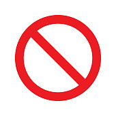 istock No Sign Icon. Red Crossed Circle Vector Design. 1204457395