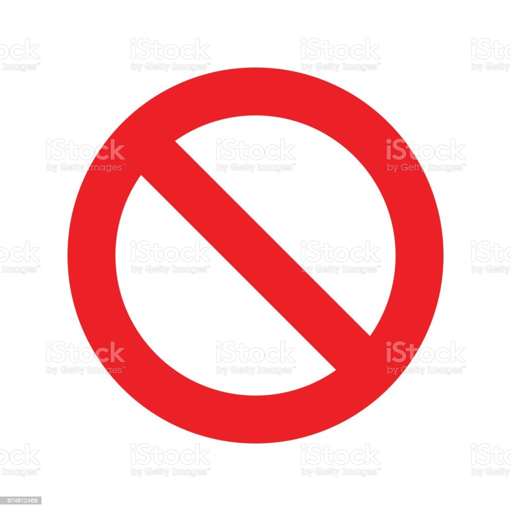 No sign icon vector transparent vector art illustration