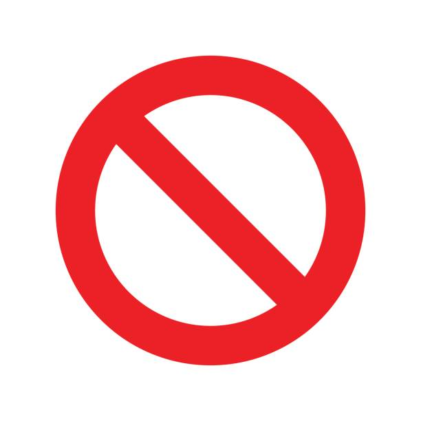 no sign icon vector transparent - signs and symbols stock illustrations