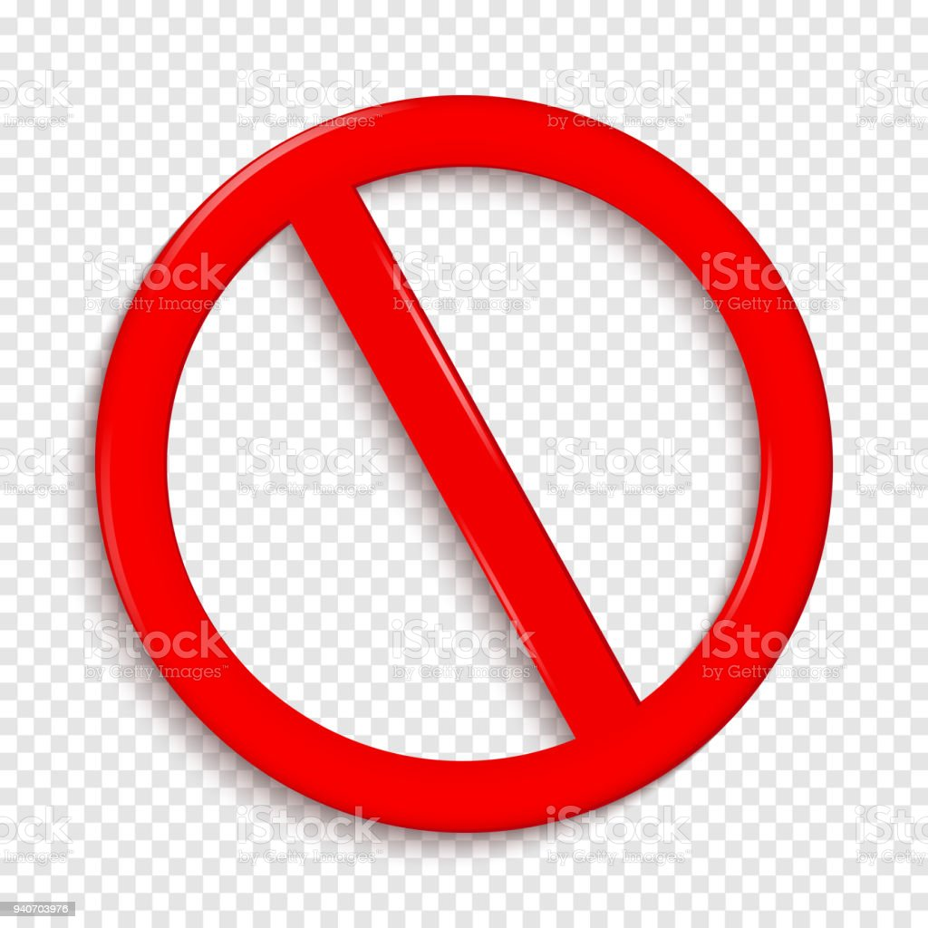no sign isolated on transparent background stock vector art more