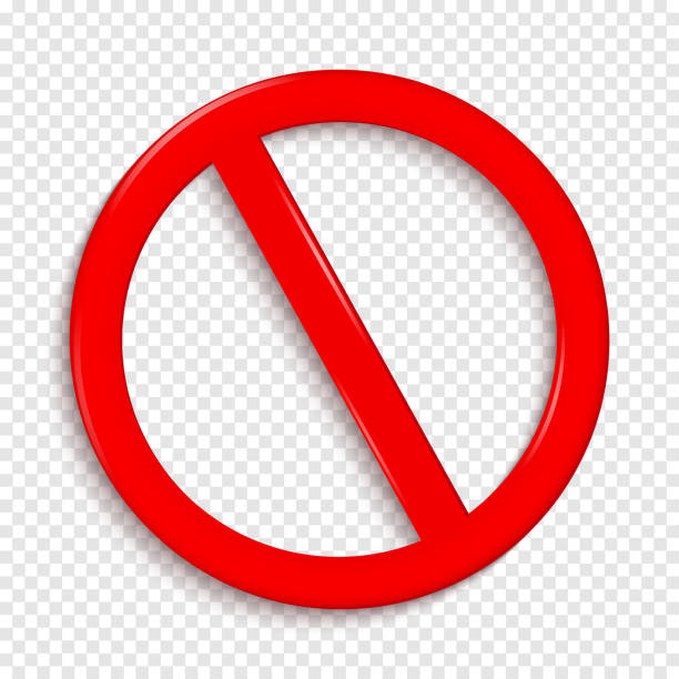 No Sign. Isolated on transparent background. No Sign. Isolated on transparent background. Vector illustration backgrounds symbols stock illustrations