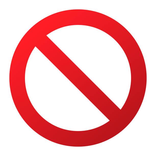 keine spur. isoliert auf weißem hintergrund. einschränkung-zeichen verboten nicht erlaubt warnung. stoppen oder rote gefahrenzeichen zu verbieten. gekreuzte positionsinformationen zu precent verbieten straße. - ausstoßen stock-grafiken, -clipart, -cartoons und -symbole