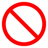 istock No sign - red thin simple, isolated - vector 1074870300