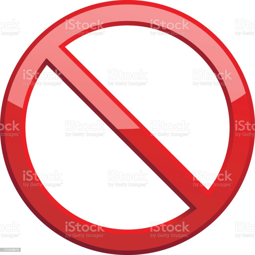 No sign vector art illustration