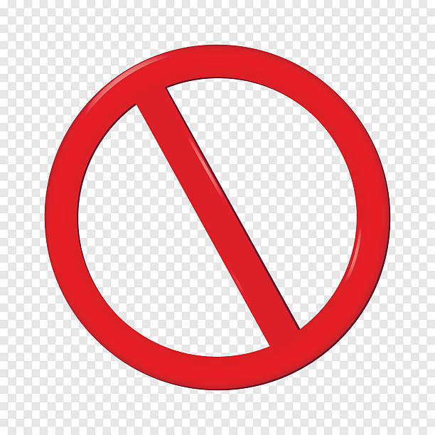 No Sign No Sign. Isolated on transparent background. Vector EPS10. exclusion stock illustrations