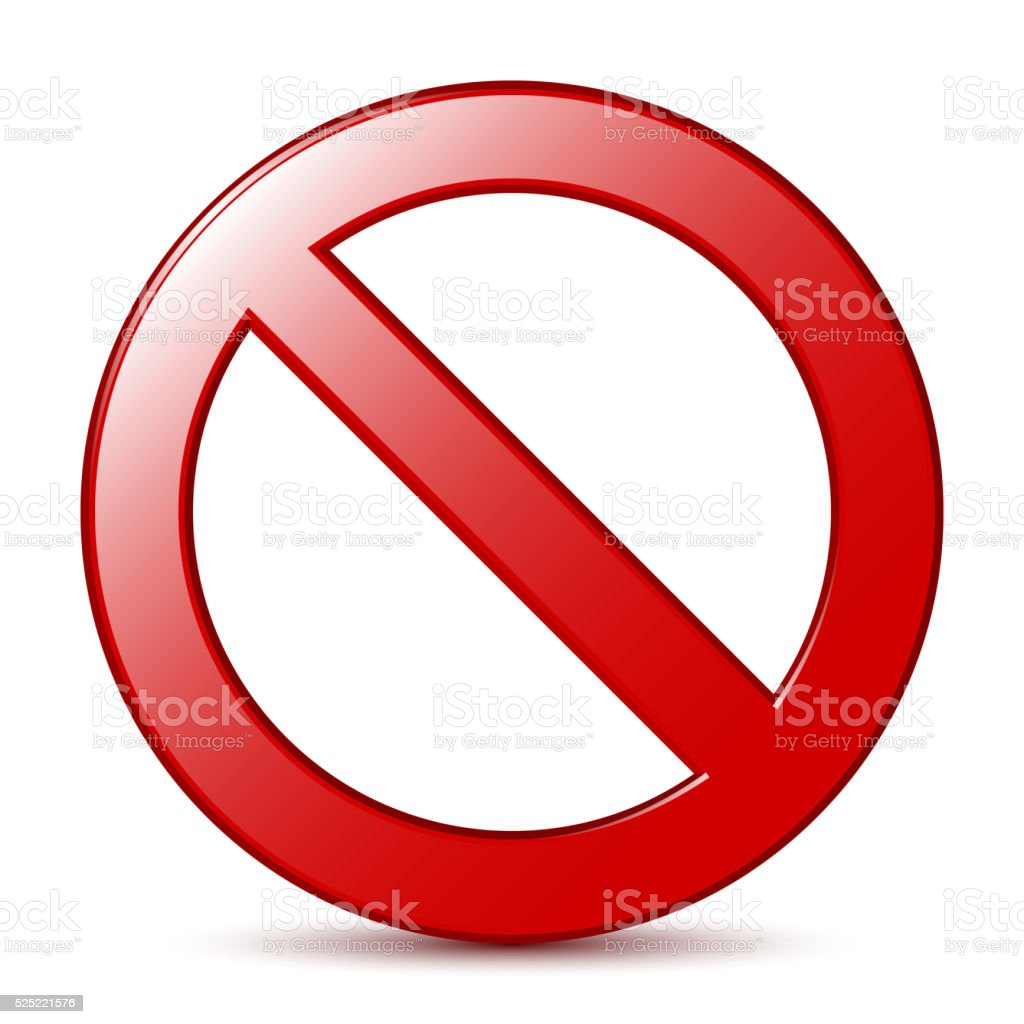 No Sign. Vector vector art illustration