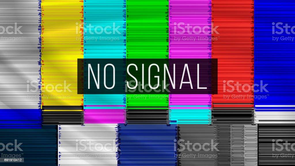 No Signal TV. Descendant Network. Rainbow Bars. Vector Abstract Background vector art illustration