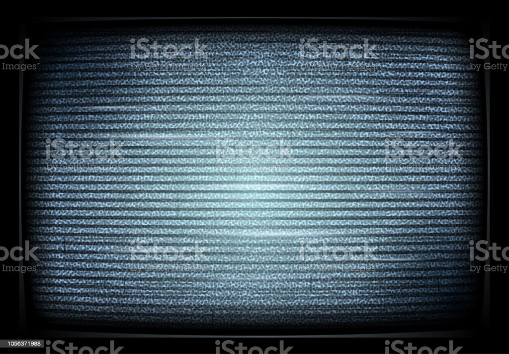Geen signaal TV illustratie. interferentie. Lawaai tv scherm storende signaal. Retro televisor. Televisie noiseю. Vectorillustratie - Royalty-free Abstract vectorkunst