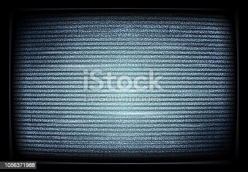 No signal TV illustration. interference. Noise tv screen interfering signal. retro televisor. Television noise. Vector illustration