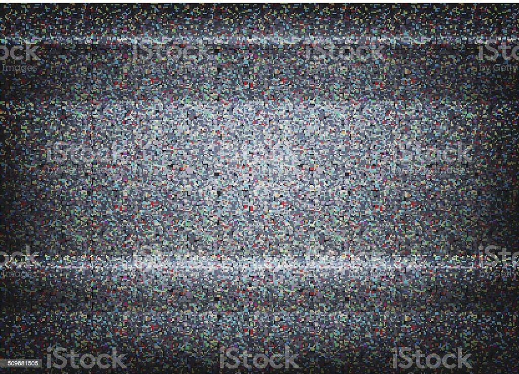 No signal TV illustration. Scalable vector. Error concept vector art illustration