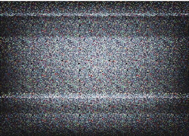 нет сигнала телевизор иллюстрация.  масштабируемые векторные.  концепция ошибка - телевизионная индустрия stock illustrations