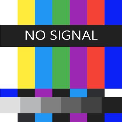 No signal vector illustration, tv broken,error.