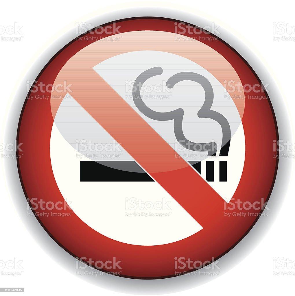 No smoking button royalty-free stock vector art
