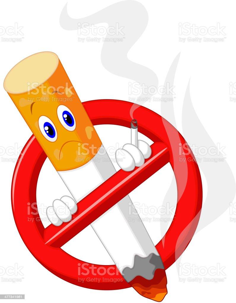 No smoking cartoon symbol royalty-free stock vector art