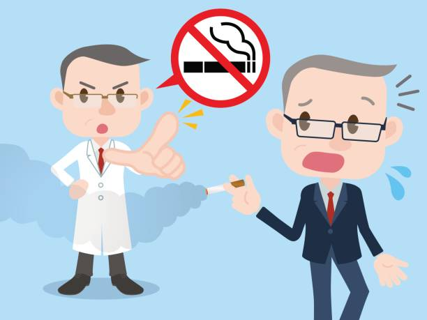 no smoking concept illustration, passive smoking, secondly smoking - old man smoking cigar stock illustrations, clip art, cartoons, & icons
