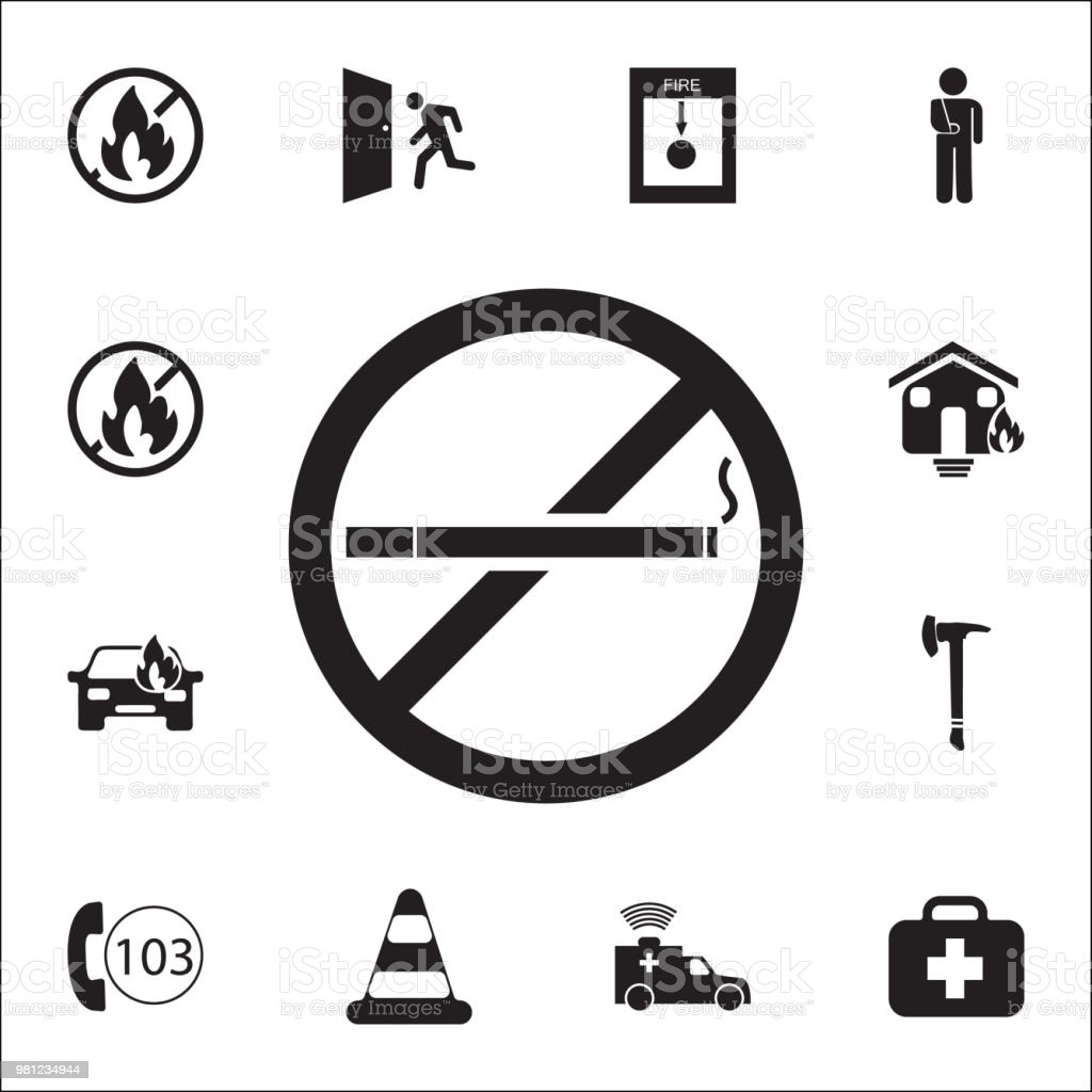 No smoking icon. Detailed set of fire guard icons. Premium quality graphic design sign. One of the collection icons for websites, web design, mobile app vector art illustration