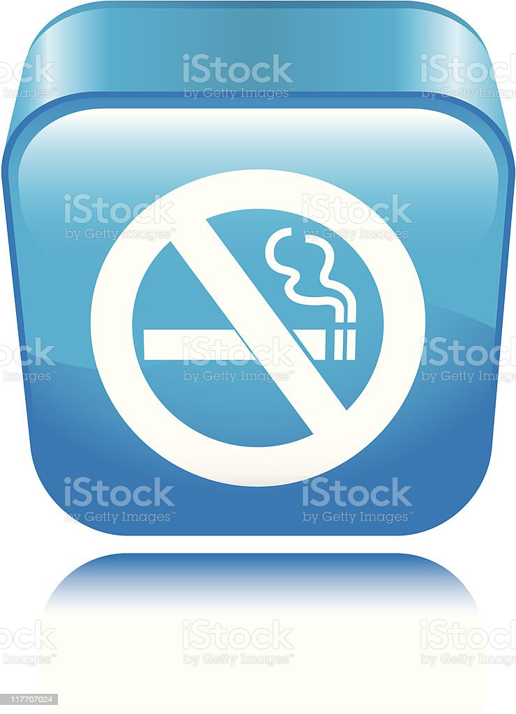 No Smoking Icon royalty-free stock vector art