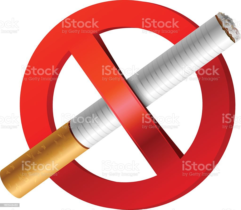 no smoking icon vector art illustration