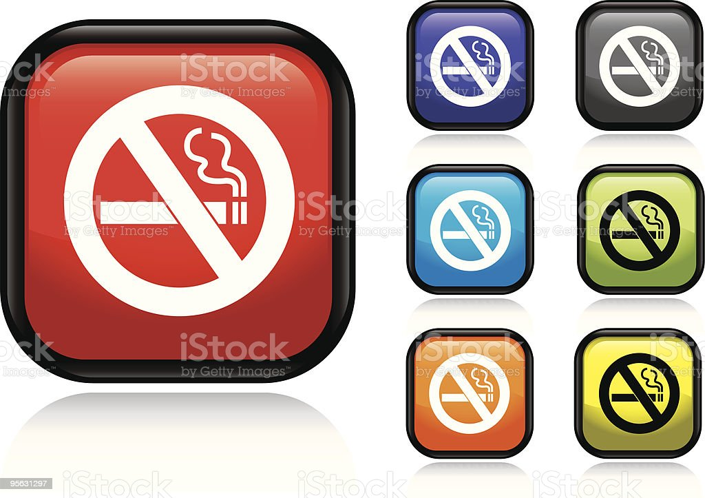 No Smoking Icon royalty-free stock vector art
